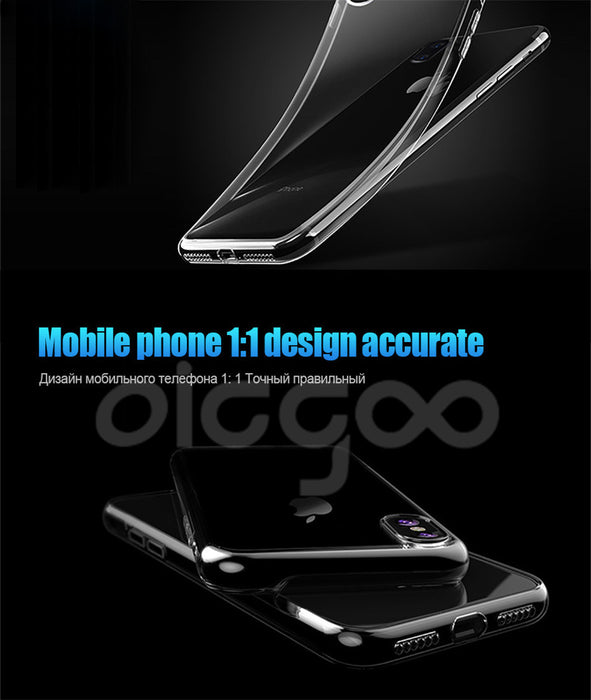 Oicgoo Transparent Protection Full Cover Case For iPhone X Phone Cases Ultra Thin Silicone Soft TPU - iDeviceCase.com