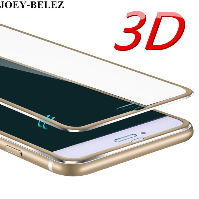 JOEY-BELEZ 3D Aluminum alloy Tempered glass For iphone 6S 7 Plus 5S SE Full 9H screen protector protective film for iPhone X 8P - iDeviceCase.com