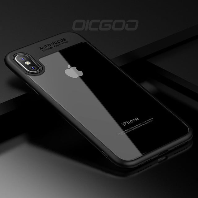 OICGOO Ultra Thin Silicone Transparent TPU & PC Full Cover Cases For iphone 8 7 6 Plus 6S 7 8 Case For iphone X Phone Case Coque - iDeviceCase.com