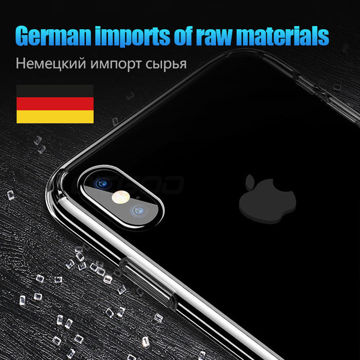 OICGOO Ultra Thin Clear Soft Full Cover Case For iPhone X Transparent Crystal Silicone TPU Case - iDeviceCase.com