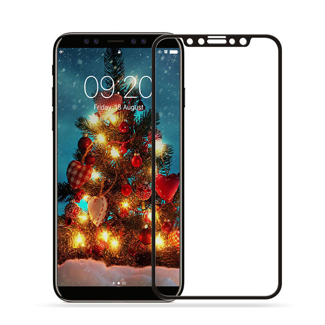 Baixin For Apple iPhone X Tempered Glass for iPhone X 10 ten 9H 4D Full Cover Screen Protector Glass - iDeviceCase.com