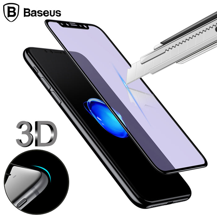 Baseus 0.23MM Screen Protector Tempered Glass For iPhone X 10 3D Soft Edge Full Protection - iDeviceCase.com