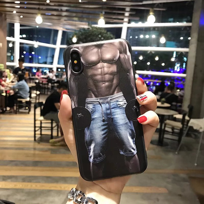 Romiky New case For iPhone X(10) Anti Knock Silicone Relief Fitness man Sexy Girl Case Soft TPU Cover for iphone x 10 - iDeviceCase.com