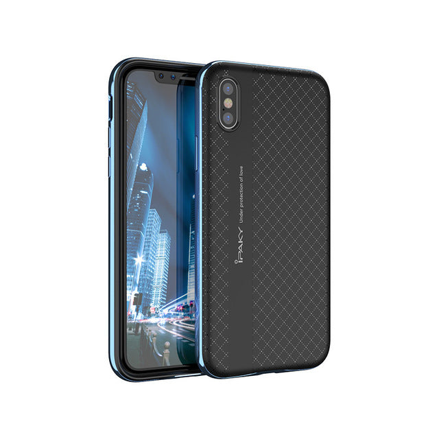 For Apple iPhone X case ipaky Brand phone case Armor PC Frame + silicone back cover For Apple iPhoneX cases iphone 10 cover - iDeviceCase.com