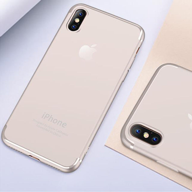 MANTIS Luxury TPU Case for iPhone X Ultra Thin Soft Silicone Protector Back Cover - iDeviceCase.com