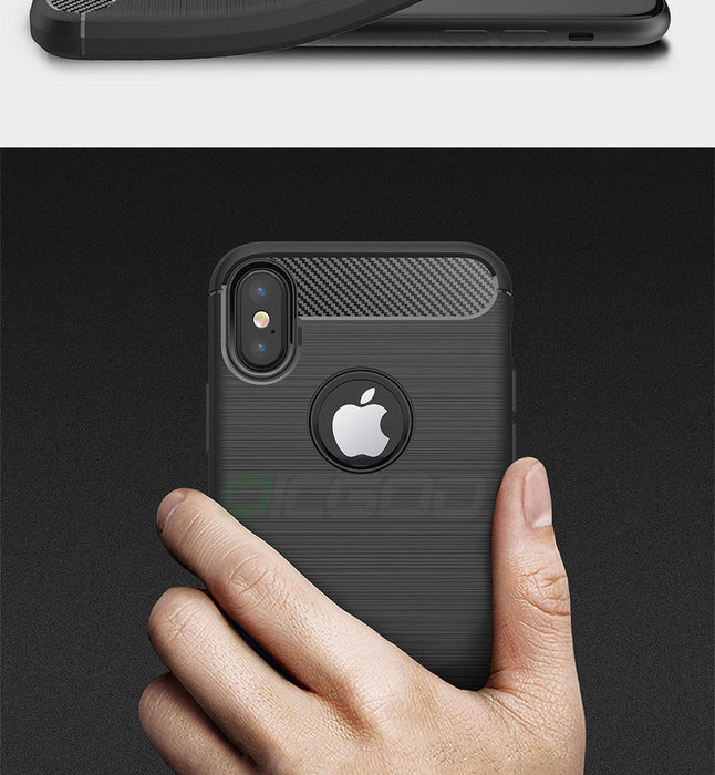OICGOO Luxury 360 Full Cover Shockproof Carbon Fiber Soft Case For iPhone X Cover Cases - iDeviceCase.com