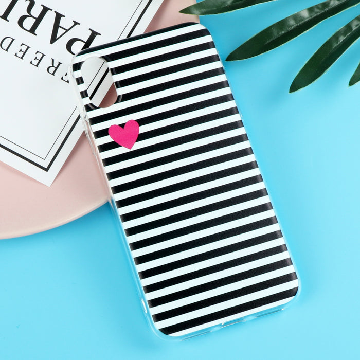 Ultrathin Stripe Cartoon Cover Soft TPU Silicone Transparent Crystal Case Coque Funda - iDeviceCase.com
