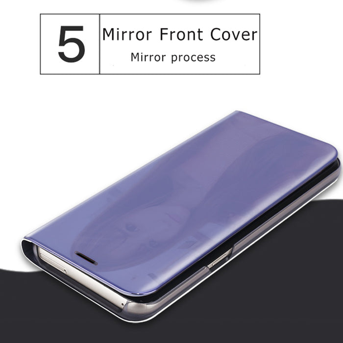 Ranipobo For Apple Iphone X Case Cover Luxury Fashion Bling Hard Smart Stand Leather Flip Mirror Phone Case for Iphone X Cover - iDeviceCase.com