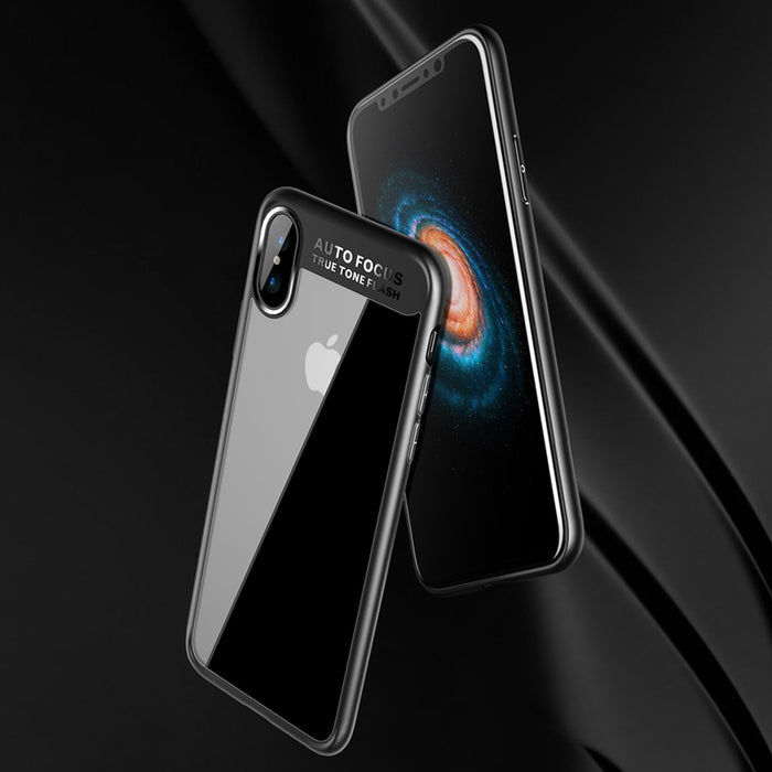 For iPhone X /10 Case, SUNGUY Transparent Hard PC Back+Soft TPU Bumper Hybrid Ultra-Thin Full Protective Shockproof Cover Case - iDeviceCase.com