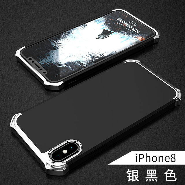 Uftemr Case for iPhone X Cover Hard Plastic 3in1 Armor Heavy Duty Protection Back Cover - iDeviceCase.com