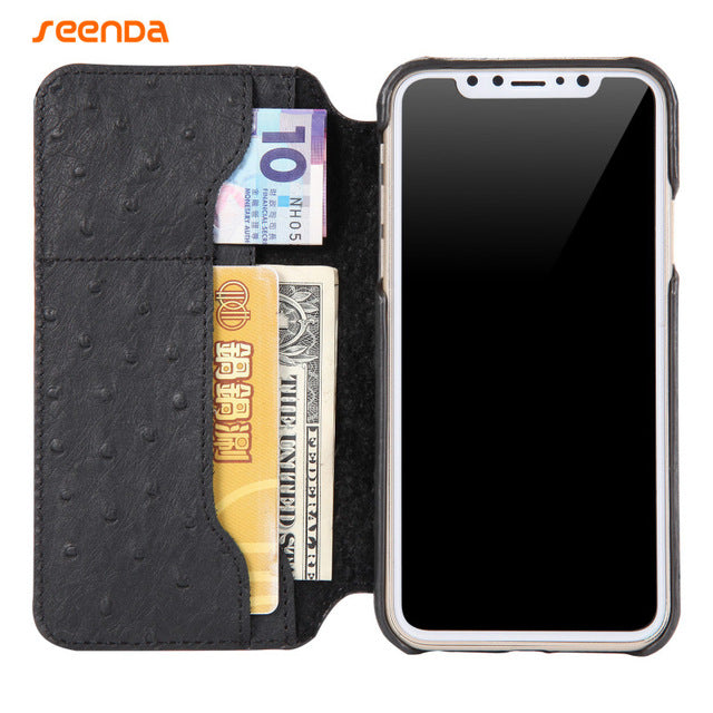 For Apple iphone X case Seenda Classical Leather Gift Full cover For iphone X case with Wallet Gift Leather Case For iphoneX - iDeviceCase.com