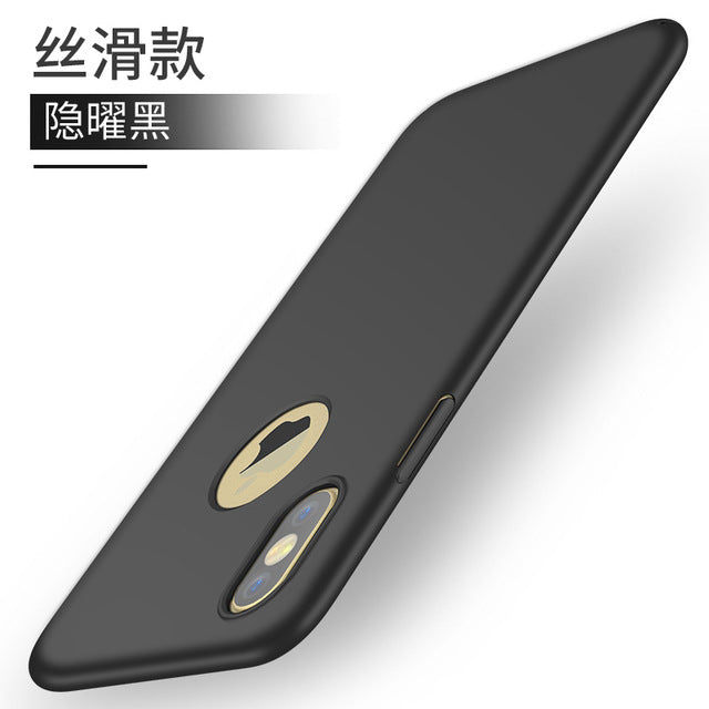 Luxury Fashion Hard Matte PC Case For iPhone X Case 360 Protective Coque for iPhone 8 7 6 6s 5 Cases For iPhone 6 7 8 Plus Case - iDeviceCase.com