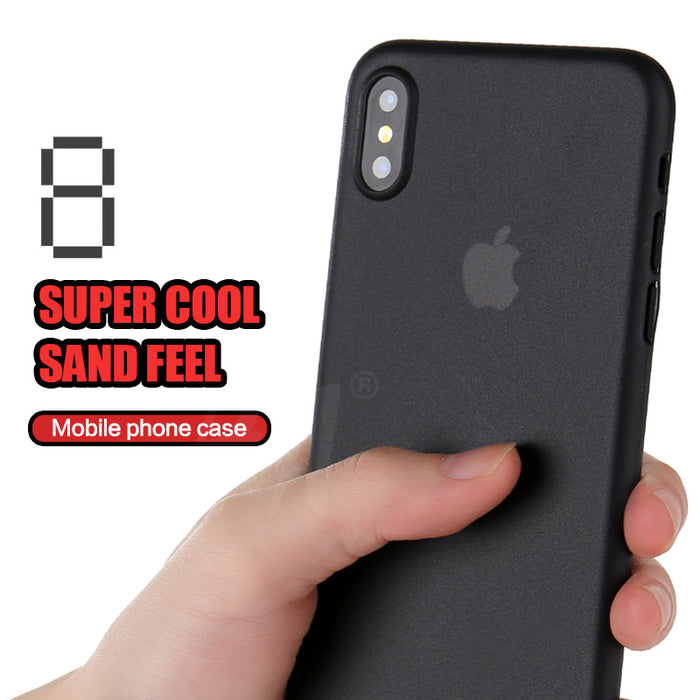 H&A Ultra Thin Matte Transparent Phone Cases For iPhone X Cover Case For iphone X Cases Red 0.3mm Phone Bag Capa - iDeviceCase.com