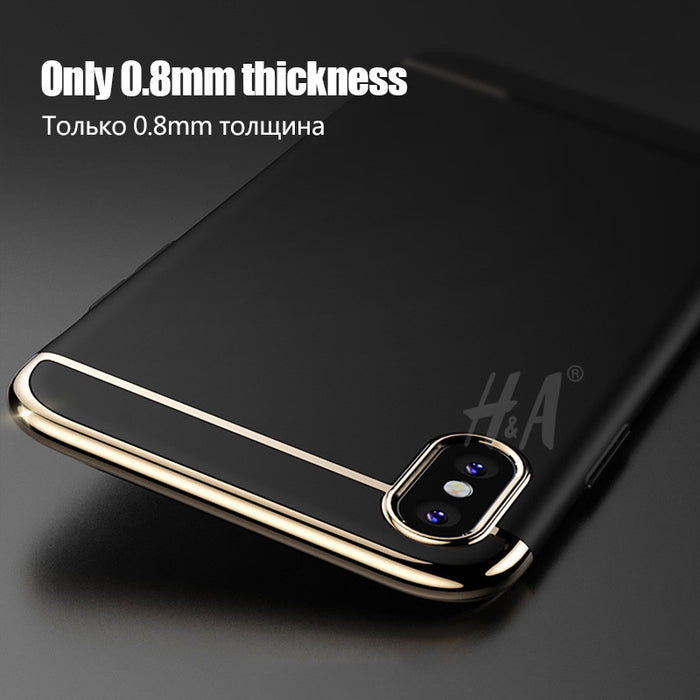 Ultra thin 360 Degree Phone Cases Full Coverage Fashion Matte Cover Case Protective Shell H&A - iDeviceCase.com
