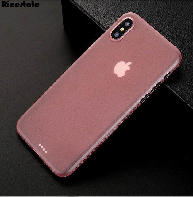 0.3mm Ultra Thin frosted Case For iphone X Matte Plastic Back Cover Case - iDeviceCase.com