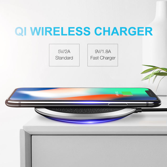 FLOVEME Qi Wireless Mobile Phone Charger Universal Quick Fast Smartphone Charger - iDeviceCase.com