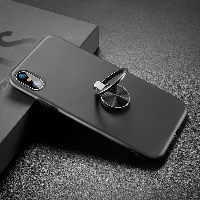 Baseus Case For iPhone X Cases Ultra Thin Finger Ring Holder Case - iDeviceCase.com