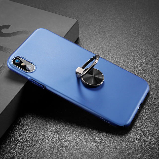 on sale 07155 12faa Baseus Case For iPhone X Cases Ultra Thin Finger Ring Holder Case