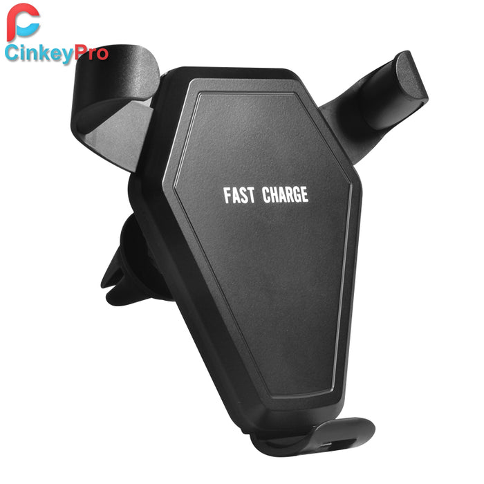 CinkeyPro QI Wireless Car Charger Holder Quick Charge 2.0 Fast Charging for iPhone 8 X 10 Samsung S6 S7 S8 Plus Air Vent Stand - iDeviceCase.com
