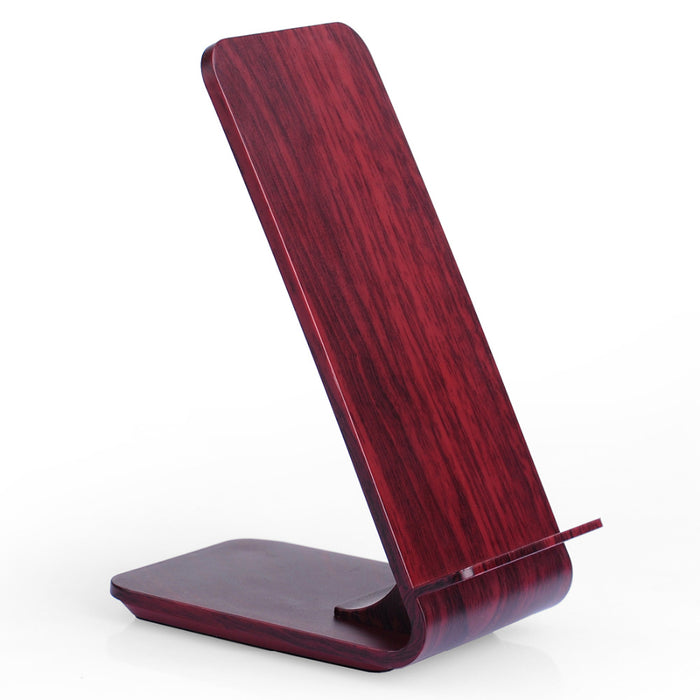 SCELTECH Wood Grain Stand Fast Wireless Charger, Quick Wireless Charger - iDeviceCase.com