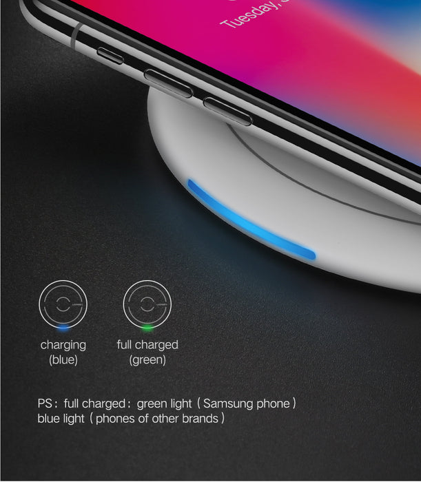 Ugreen Wireless Charger for iPhone 8/X 10W Qi Fast Wireless Charging Pad Charger - iDeviceCase.com
