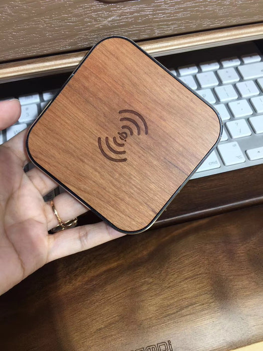 SZYSGSD Bamboo Wood Portable Qi Wireless Charger Fast Charging Pad - iDeviceCase.com