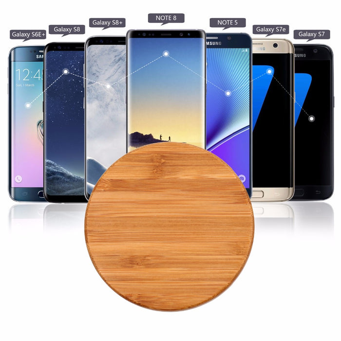 QI Wireless Chargers, AFILADO Ultra Slim Bamboo Qi Charging Pad - iDeviceCase.com