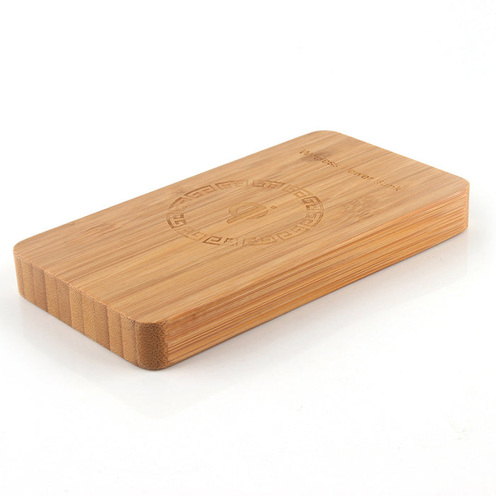 Bamboo Qi Wireless Charger Powerbank 6000mAh Fast Rechargeable External Battery Poverbank Charging - iDeviceCase.com