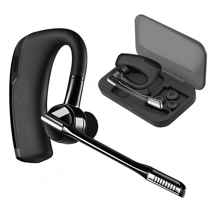 K6 Business Bluetooth Headphones Wireless Earphones Stereo HD Mic Car Driver Handsfree Bluetooth Headset with Storage Boxes - iDeviceCase.com