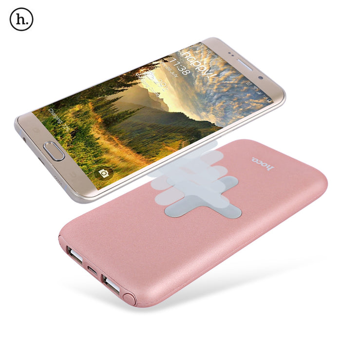 HOCO B11 Wireless Charger 8000mAh Power Bank Dual USB Port for iPhone 8 plus X for samsung note 8 s7 s8 plus - iDeviceCase.com
