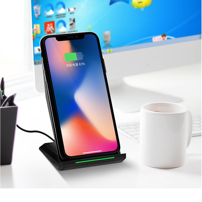 Fast Wireless Charger Wireless Charging Stand for Samsung Galaxy S8 S8 Plus S7 S 6 Note 5 For iphone X 8 8plus and All QI-Enable - iDeviceCase.com