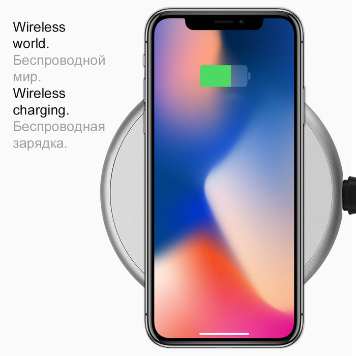 HOCO QI Wireless Charger for iPhone X 8 8 Plus Fast Wireless Charging Pad for Samsung Galaxy S8 S8 Plus S7 Edge 2017 New - iDeviceCase.com