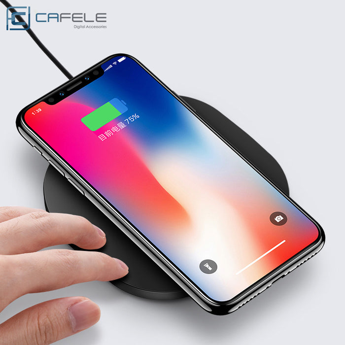 Qi Wireless Charger 10W Original Cafele Wireless Charger Charging Pad - iDeviceCase.com