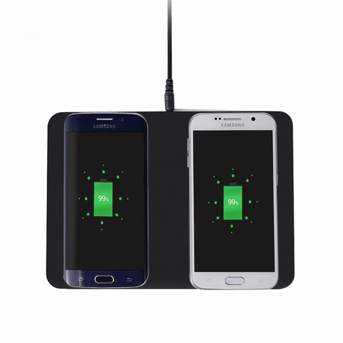 Double Qi Wireless Charger Pad Transmitter Charging Station for Samsung Galaxy S8 S8+ S6 Edge Plus S7 Note5 Note 8 iPhone 8 X - iDeviceCase.com