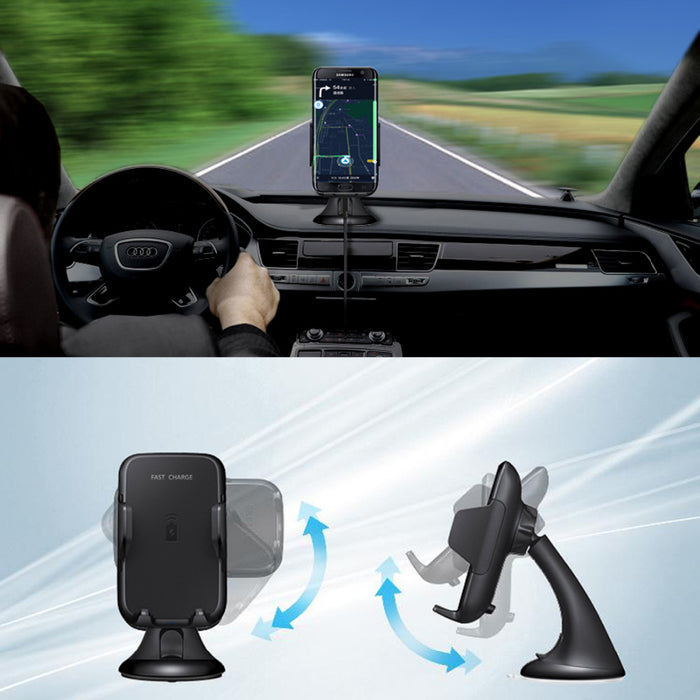 Qi Wireless Car Charger Phone Mount car Holder Fast Qi Charger - iDeviceCase.com