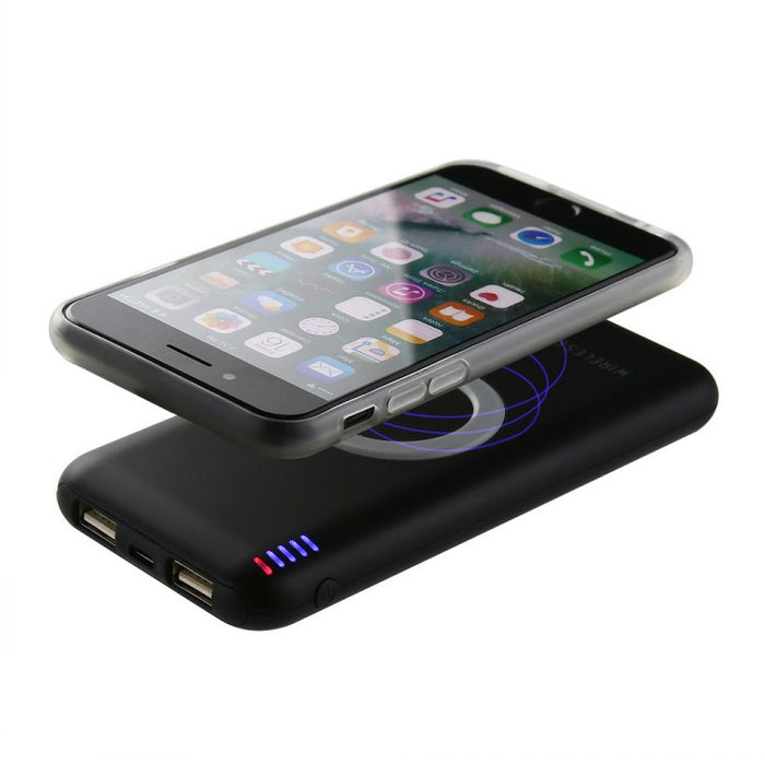 8000mAh Qi wireless charger portable power bank dock station - iDeviceCase.com