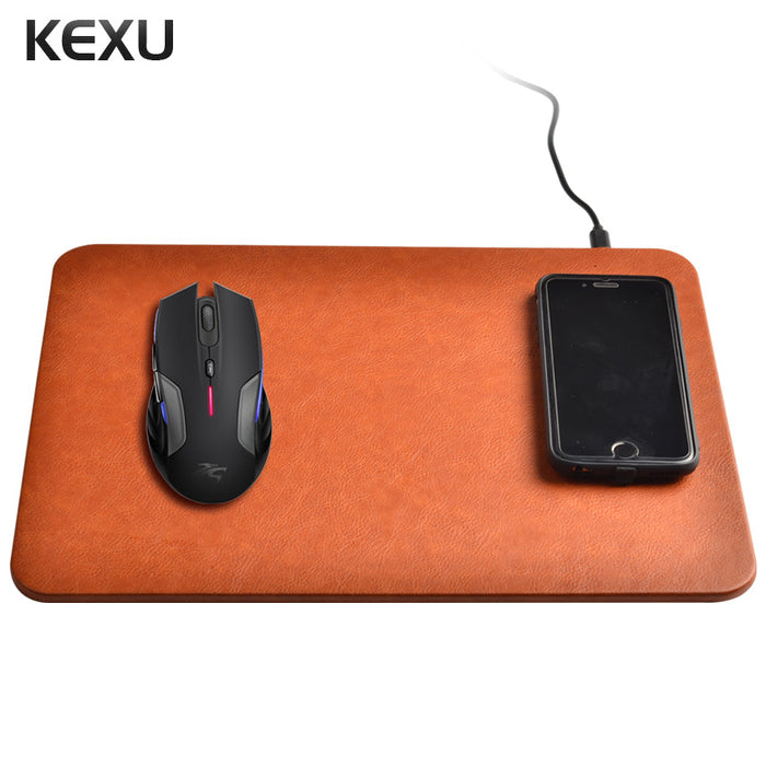 KEXU 2 in 1 Wireless Charger Pad Mouse Pads Phone Stand Charging Transmitter for iPhone 8 iPhone X Samsung Nokia HTC Motorola LG - iDeviceCase.com