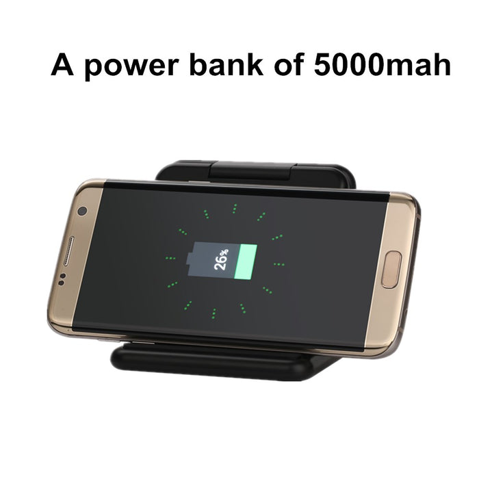 SZYSGSD Qi Wireless Fast Charging 5000mAh 5V 2A Power Bank harger Folding Pad Dock wireless charger - iDeviceCase.com