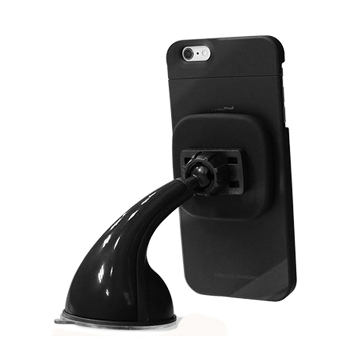 ECDREAM car charger Qi wireless charger 360 degrees rotating phone mount holder stand - iDeviceCase.com