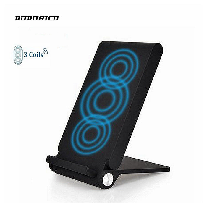 ROROBICO 3 Coils Foldable QI Fast For iPhone X For iPhone 8 8Plus Wireless Charger For Samsung Galaxy S6 S7 Edge S8 Plus Note 8 - iDeviceCase.com