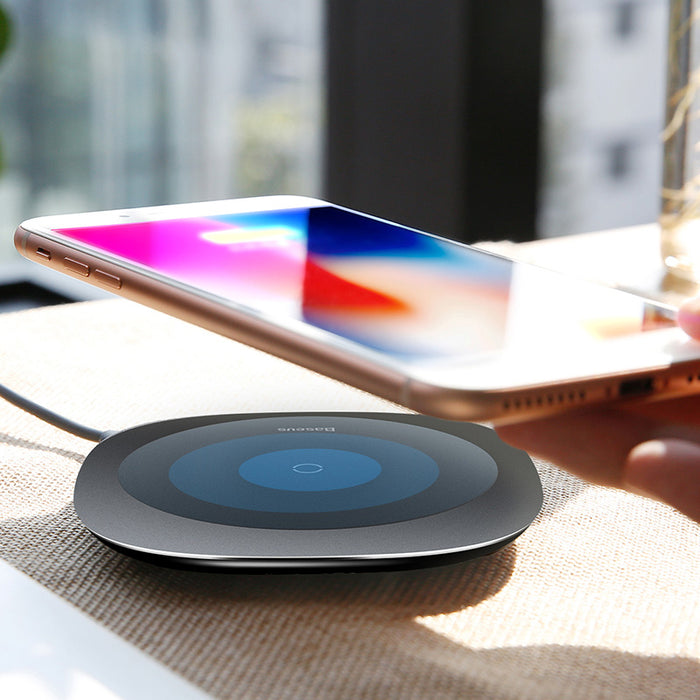 Baseus Qi Wireless Charger Desktop Fast Wireless Charging Pad - iDeviceCase.com