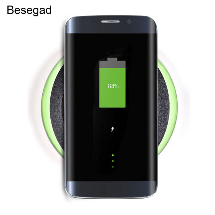 Besegad Round Fast QI Wireless Phone Charger Charging Stand Holder - iDeviceCase.com