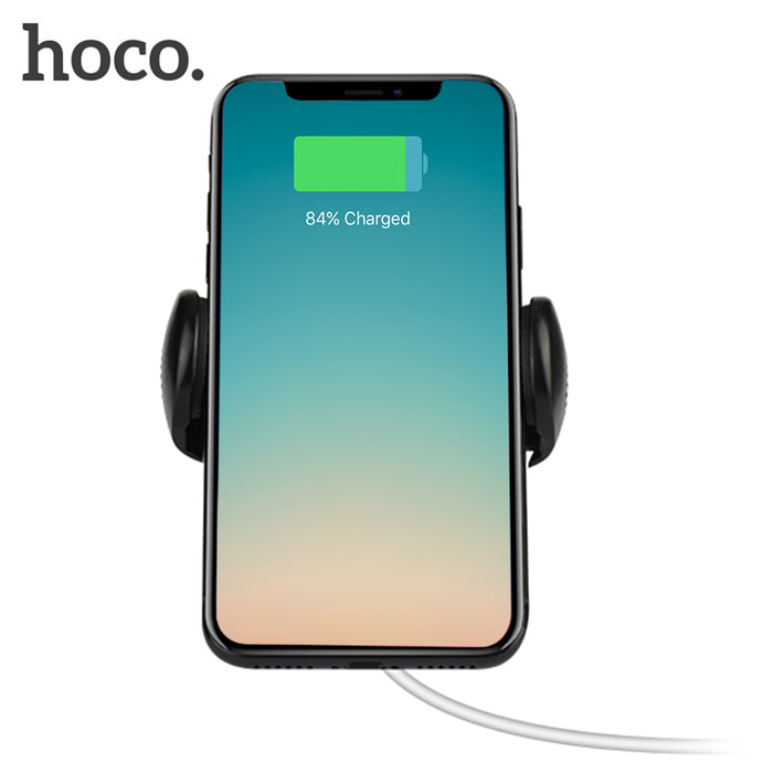 HOCO CW4 360 Degree Rotation Qi Wireless Charger Clip Holder Air Vent Car Mount Stand for iPhone 8 / 8 Plus / X - iDeviceCase.com