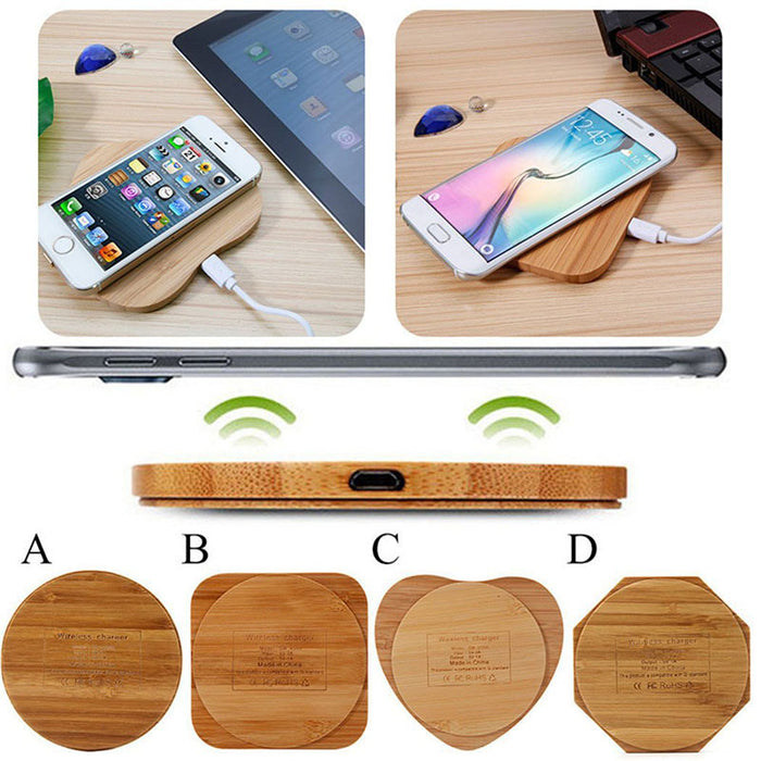 Wireless Charger Bambo,Qi Wireless Charging Pad Stand Qi-Enabled Devices - iDeviceCase.com