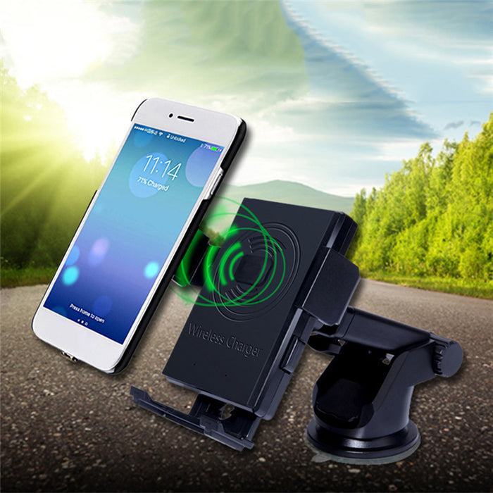 QI Wireless Chargers Car Holder Rotary Sucker Air Outlet Mounting Car Wireless Charger - iDeviceCase.com