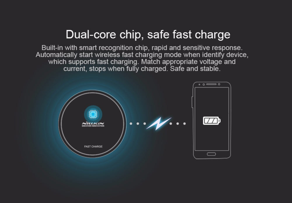 for iPhone X 8 8 Plus Fast Quick Nillkin Magic Disk III Wireless Charger Transmitter For Samsung GALAXY S8 Qi Wireless Charger - iDeviceCase.com