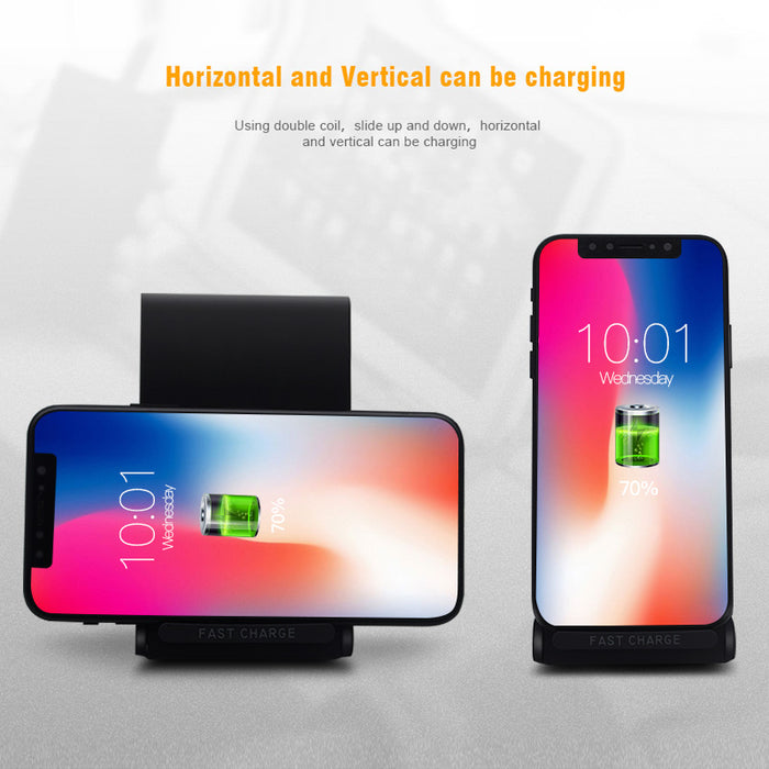 CTRINEWS Wireless Charger QI Fast Charger Quick Charge Stand - iDeviceCase.com