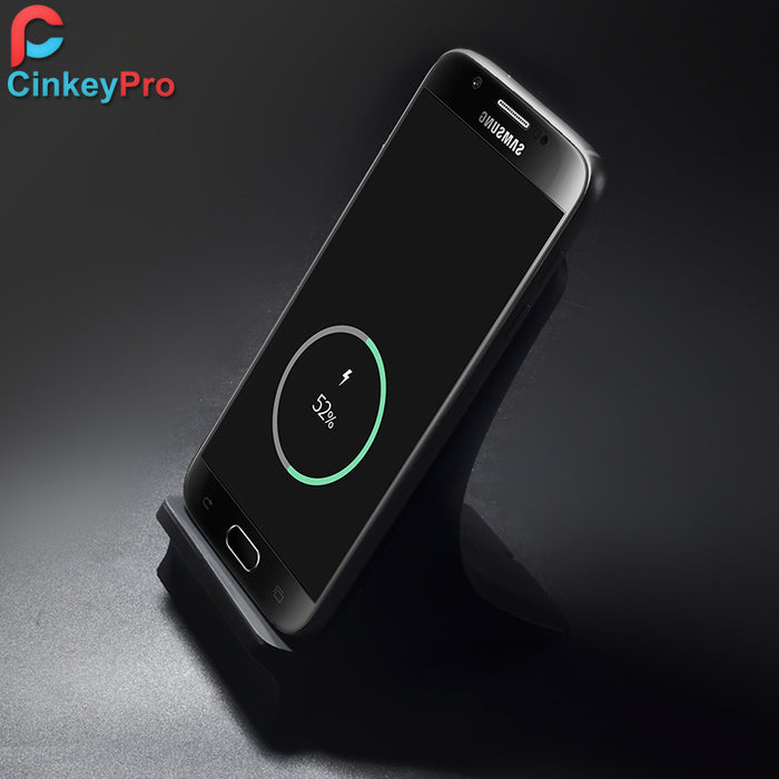 CinkeyPro Qi Wireless Charger Holder with Fan Quick Charge 2.0 Fast Charging for iPhone 8 10 X Samsung S6 S7 S8 Dock Stand - iDeviceCase.com