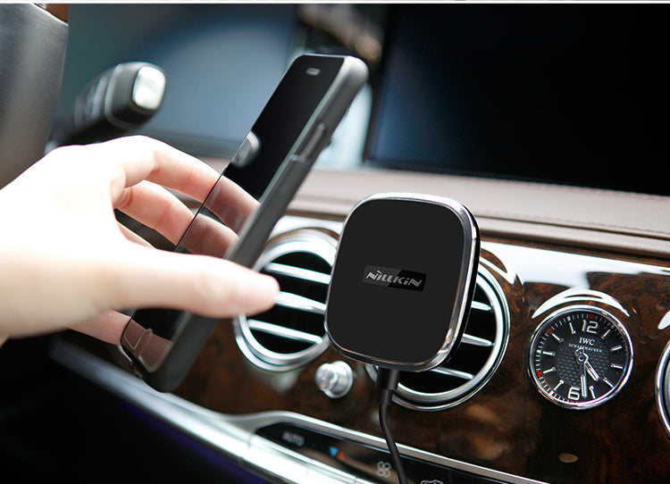 NILLKIN B Model Spring Clamp 360 Rotational Magnetic Air Vent Car Mount Holder Qi Wireless Charger - iDeviceCase.com