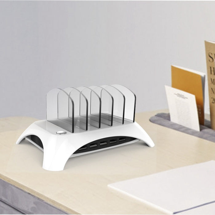 Universal 5 Multi Ports Detachable USB Charging Station Stand Holder Desktop Charger - iDeviceCase.com